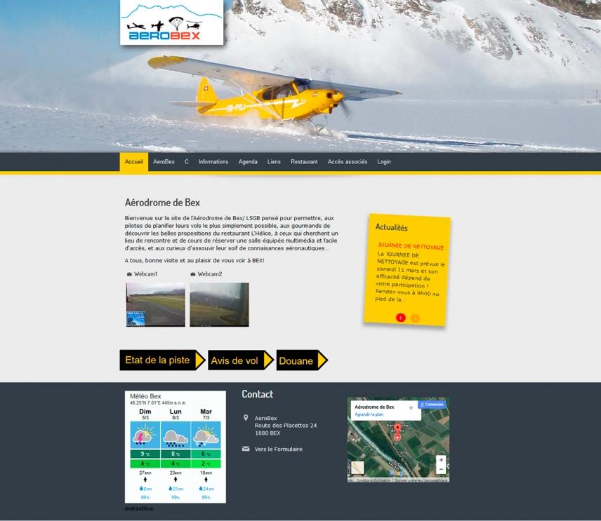 AeroBex Aérodrome de Bex - Agence Web Creation site Internet